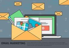 Emailmarknadsföringsbegrepp Stock Illustrationer
