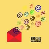 Emailmarknadsföringsillustration Royaltyfri Foto