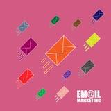 Emailmarknadsföringsillustration Arkivbild