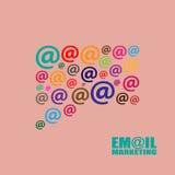 Emailmarknadsföringsillustration Arkivbilder