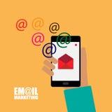 Emailmarknadsföringsillustration Arkivfoto