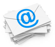 The emails Royalty Free Stock Photo