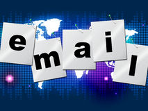 Emails Email Indicates Send Message And Communicate Royalty Free Stock Photo