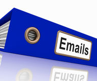 Emails File Showing Contacts and Correspondence Royalty Free Stock Photo
