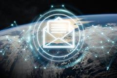 Emailsutbyten på tolkning för planetjord 3D Royaltyfri Foto