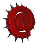 Emailsymbol med törnar Fotografering för Bildbyråer