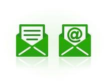 Emailsymboler på vit bakgrund byter ut lätta symboler för bakgrund den genomskinliga vektorn för skugga Arkivbilder