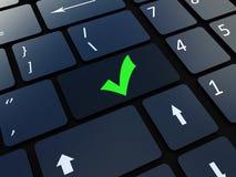 Emal Schlüssel der Tastatur Stockfoto