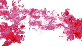 Emanações ou tinta vermelha Use-o para o fundo, a transição ou as folhas de prova tinta ou fumo do elemento VFX dos gráficos do m ilustração stock