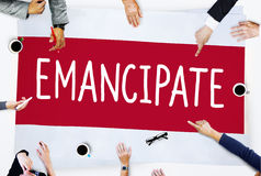 Emancipate Emancipated Emancipation Freedom Concept Royalty Free Stock Images
