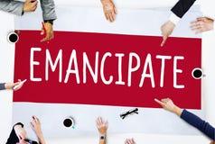 Emancipate Emancipated Emancipation Freedom Concept royalty free stock images