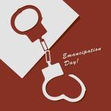 Emancipation Day. Abstract illustration to Emancipation Day! Vector drawing Stock Photography