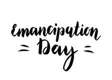 Emancipation Day vector illustration. Inspirational vector poster. Handwritten lettering Stock Photos
