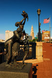 Emancipation, Hartford Connecticut. A statue entitled Emancipation is located on Founders Bridge in Hartford, Connecticut royalty free stock photos