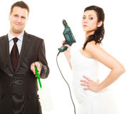 Emancipation in marriage. Royalty Free Stock Photography