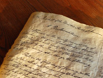 Emancipation Proclamation. The Emancipation Proclamation, signed by President Abraham Lincoln September 22, 1862, freeing the slaves royalty free stock photo