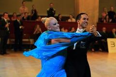 Emanuel Valeri och Tania Kehlet - sällskapsdans Fotografering för Bildbyråer
