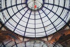 emanuele圆顶场所ii米兰vittorio 它世界` s最旧的商城的` s一 库存照片