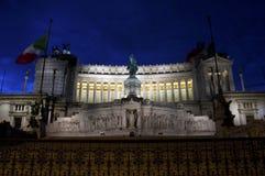 emanuele ii monument till vittorioen Royaltyfria Bilder