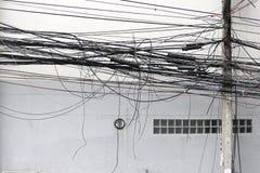 Emaranhado do cabo de sinal Fotografia de Stock