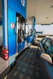 Emarat加油站在沙扎市 库存照片