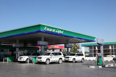 Emarat petrol station in Sharjah. United Arab Emirates royalty free stock photo