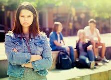 Emarginato della ragazza dell'adolescente fotografia stock libera da diritti