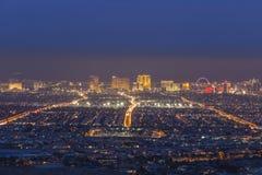 Embaçamento do crepúsculo da tira de Las Vegas Imagem de Stock
