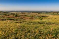 Embaçamento sobre uma paisagem do país Imagem de Stock