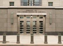 Embaixada do Estados Unidos em Ottawa, Ontário, Canadá Imagem de Stock