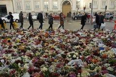 EMBAIXADA DO TERRORISTA ATTACKED_FRENCH DE PARIS Imagens de Stock