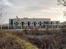 Embaixada dos E.U. imagens de stock