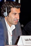 Embaixador UEFA de Luis Figo Foto de Stock Royalty Free