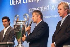Embaixadores UEFA Mihaylichenko, Figo, Suker Imagem de Stock