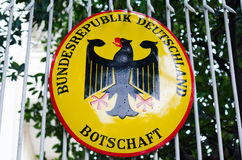Embajada alemana en Phnom Penh, Camboya Imágenes de archivo libres de regalías