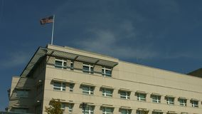 Embajada de los E.E.U.U. en Berlín almacen de metraje de vídeo