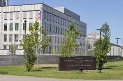 Embajada de los Estados Unidos de América en Kiev foto de archivo libre de regalías