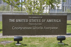 Embajada de los Estados Unidos de América en Kiev imagenes de archivo