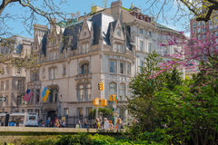 Embajada ucraniana en Fifth Avenue foto de archivo