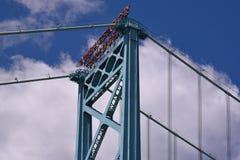 Embajador Bridge Over el río Detroit Foto de archivo libre de regalías