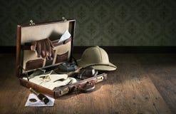 Embalagem do explorador para um curso foto de stock