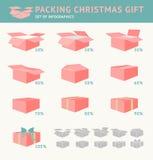 Embalagem do presente do Natal Imagens de Stock