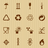Embalagem e ícones logísticos do vetor Imagem de Stock Royalty Free