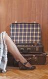 Embalagem e curso, retros Foto de Stock