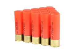 Embalagens vermelhas de uma espingarda Imagem de Stock