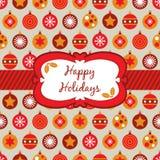 Embalaje anaranjado y amarillo rojo de la Navidad Fotografía de archivo