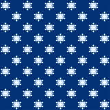 Embalaje azul de la Navidad de los copos de nieve Fotografía de archivo