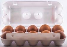 Embalaje de huevos foto de archivo libre de regalías