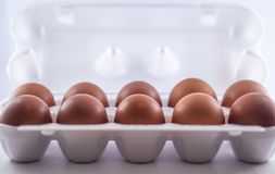 Embalaje de huevos fotografía de archivo libre de regalías