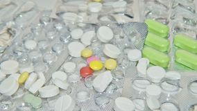Embalaje de la tableta médica fotos de archivo